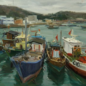 02 Bai Bingyang Fishing Port No.1 60 x 80 cm 290x290 - Travel to Weizhou–Countryside Sketching Activity of the Doctoral Candidates of the Institute of Plastic Arts, CAFA