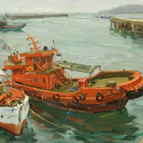 03 Bai Bingyang Fishing Port No.2 60 x 80 cm 290x290 - Travel to Weizhou–Countryside Sketching Activity of the Doctoral Candidates of the Institute of Plastic Arts, CAFA