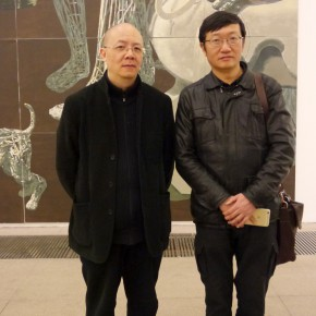 """03 The group photo of Miao Xiaochun and GuZhenqing 290x290 - """"Man-Machine Integration"""" New Aesthetics–Miao Xiaochun: Save As Opened in Beijing"""