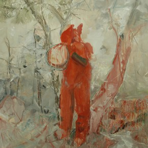 04 Zhu Xiangmin Red of Festival 2014 Oil on canvas 180X190cm 290x290 - Study the Phenomena of Nature •Ideal–Exhibition of Zhu Xiangmin Works on Display at Grand Space
