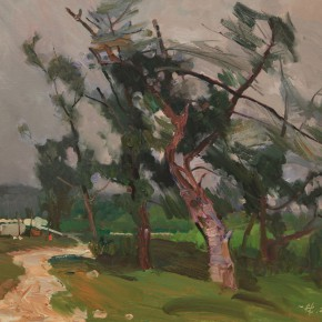 09 Ding Yilin Wind among the Pine Trees 65 x 80 cm 290x290 - Travel to Weizhou–Countryside Sketching Activity of the Doctoral Candidates of the Institute of Plastic Arts, CAFA