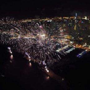 "10""Harmonious and Beautiful China"" themed fireworks show"