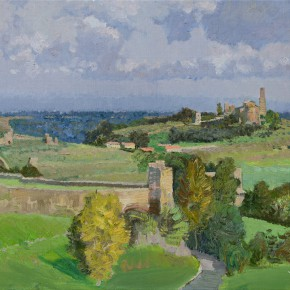 10 Ding Yilin The Beautiful Tuscania oil on canvas 50 x 70 cm 2014 290x290 - Grand Tour: Italy Seen by Chinese Artists' Eyes to be Inaugurated in Museo Nazionale d'Arte Orientale