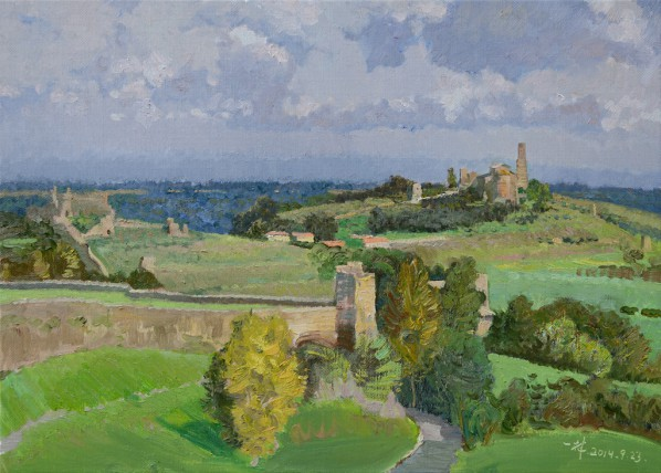 10 Ding Yilin, The Beautiful Tuscania, oil on canvas, 50 x 70 cm, 2014