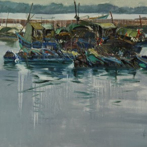 10 Xie Zhenhua The Dock 60 x 80 cm 290x290 - Travel to Weizhou–Countryside Sketching Activity of the Doctoral Candidates of the Institute of Plastic Arts, CAFA