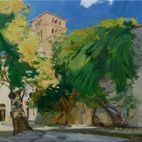 11 Ding Yilin TheFarfa Monastery oil on canvas 60 x 70 cm 2014 290x290 - Grand Tour: Italy Seen by Chinese Artists' Eyes to be Inaugurated in Museo Nazionale d'Arte Orientale