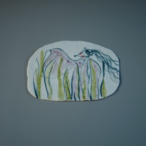 11 He Yisha porcelain plate painting No.1 290x290 - Jiuge–He Yisha Art Exhibition opened at Baiye Art Gallery