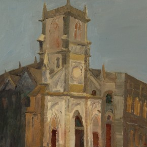 11 Wang FangThe Old Church 50 x 60 cm 290x290 - Travel to Weizhou–Countryside Sketching Activity of the Doctoral Candidates of the Institute of Plastic Arts, CAFA
