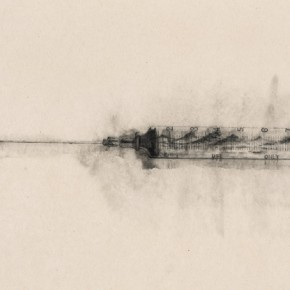 118 Zhang Yanzi, The Landscape of Pain, 2014; Ink on paper, 238x97cm