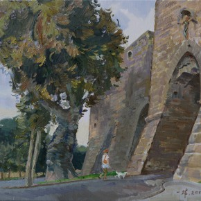 12 Ding Yilin The Old Town in Tuscania oil on canvas 50 x 60 cm 2014 290x290 - Grand Tour: Italy Seen by Chinese Artists' Eyes to be Inaugurated in Museo Nazionale d'Arte Orientale