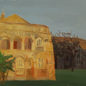 12 Wang FangThe Church 50 x 60 cm 290x290 - Travel to Weizhou–Countryside Sketching Activity of the Doctoral Candidates of the Institute of Plastic Arts, CAFA