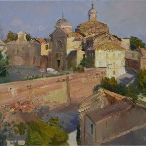 13 Ding Yilin The Old Town in Tuscania with the Setting Sun oil on canvas 60 x 80 cm 2014 290x290 - Grand Tour: Italy Seen by Chinese Artists' Eyes to be Inaugurated in Museo Nazionale d'Arte Orientale