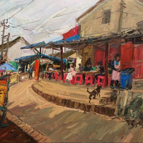 14 Bai Xiaogang The Day with a Dog No.1 80 x 90 cm 副本 290x290 - Travel to Weizhou–Countryside Sketching Activity of the Doctoral Candidates of the Institute of Plastic Arts, CAFA