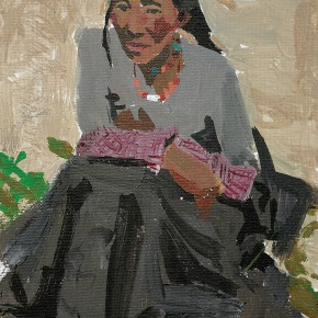 14 Yuan Yuan, Tibetan Woman No.2, acrylic on canvas, 30 x 20 cm, 2012