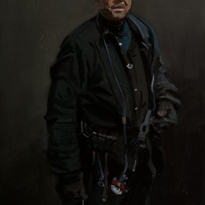 16 Yuan Yuan, The Miner No.1, oil on canvas, 116 x 80 cm, 2010
