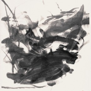 "18 Qiu Zhenzhong Stop – Stop ink on paper 68 x 45 cm 2000 290x290 - ""Starting Point and Generating"" Qiu Zhenzhong's Solo Exhibition opened at the National Art Museum of China"