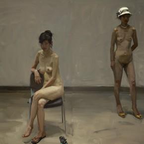 20 Yuan Yuan, The Alert No.1, oil on canvas, 200 x 100 cm, 2010
