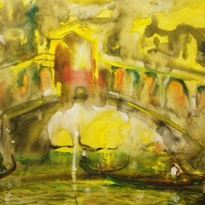 22 Wang Weixin Gold Bridge watercolor on paper 54 x 76 cm 2004 290x290 - Grand Tour: Italy Seen by Chinese Artists' Eyes to be Inaugurated in Museo Nazionale d'Arte Orientale