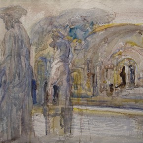 26 Wang Weixin Midday watercolor on paper 54 x 76 cm 2014 290x290 - Grand Tour: Italy Seen by Chinese Artists' Eyes to be Inaugurated in Museo Nazionale d'Arte Orientale