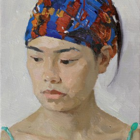37 Yuan Yuan, The Study of Female Body, oil on canvas, 100 x 80 cm, 1996