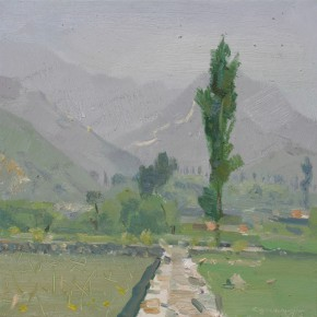 49 Yuan Yuan, The Noon, oil on canvas, 40 x 40 cm, 2007