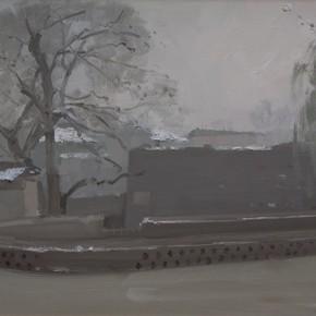 51 Yuan Yuan, Zhangbi Village, oil on canvas, 60 x 90 cm, 2009