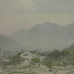 52 Yuan Yuan, Yuanyang Terrace, oil on canvas, 80 x 100 cm, 2011
