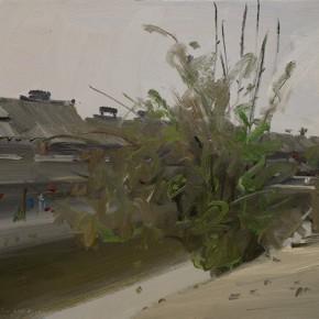 57 Yuan Yuan, The Ancient Xitang Town, oil on canvas, 50 x 70 cm, 2011