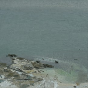 61 Yuan Yuan, The Waters and Sky Merge in One Color No.1, oil on canvas, 40 x 40 cm, 2006