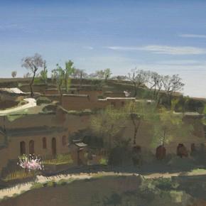 63 Yuan Yuan, A Mountain Village, oil on canvas, 72 x 116 cm, 2010