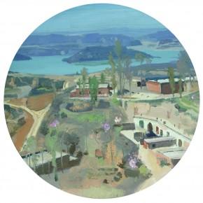 82 Yuan Yuan, Overlooking of the Longxi Lake Reservoir, oil on canvas, diameter 60 cm, 2010