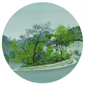 84 Yuan Yuan, The U-Turn, oil on canvas, diameter 60cm, 2009