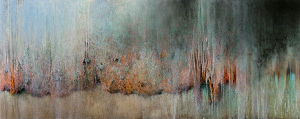 Art Projects Gallery, Ariane Monod, Untitled #1; Oil on Aluminum, 40 x 100cm, 2015