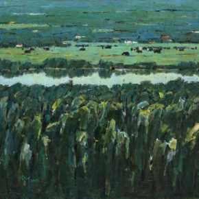 Ma Changli The Green Filed 2009 Oil on canvas 65.2x80.3cm 290x290 - Poetic Sentiment—Ma Changli's Retrospective Art Exhibition Opening April at NAMOC