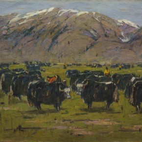 Ma Changli The Highland Ranch 1980 Oil on canvas 80x95cm 290x290 - Poetic Sentiment—Ma Changli's Retrospective Art Exhibition Opening April at NAMOC