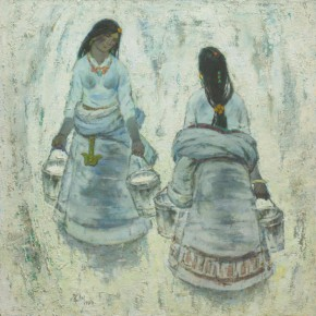 Ma Changli The Silver World 1989 Oil on canvas 120x120cm 290x290 - Poetic Sentiment—Ma Changli's Retrospective Art Exhibition Opening April at NAMOC