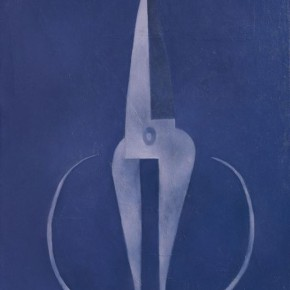 Mao Xuhui's Grey Scissors Upside Down, 1997; Oil on canvas, 145x120cm