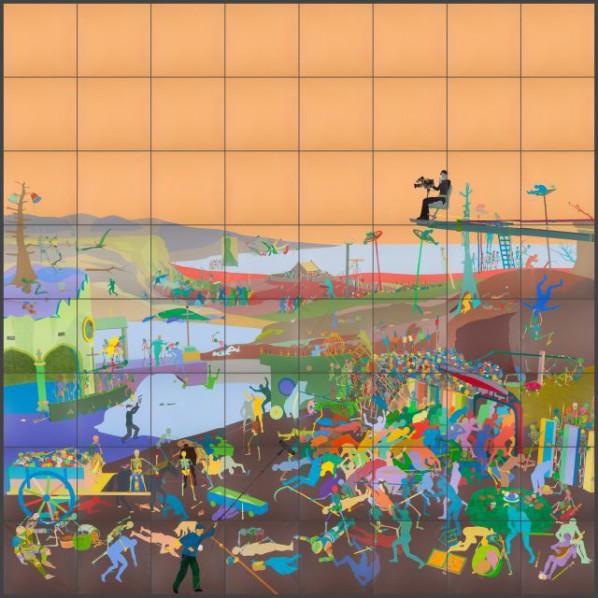 Miao Xiaochun, The Triumph of Death, 2015; Acrylic on linen, 800x800cm
