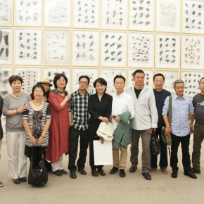 01 Group photo of the honor guests at the opening ceremony 290x290 - Crusader–Li Di's New Works on Paper Debuted at the White Box Art Center