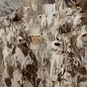 01 Kang Lei, Sunflower – Self-Portrait No.2, oil on canvas, 150 x 160 cm, 2009