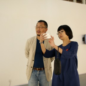 "02 Curator Wang Chuan and Huang Lishi Director of Redtory 290x290 - Chinese Contemporary Photographic Exhibition ""The Persistence of Images: 2×6"" Opening at Redtory in Guangzhou"