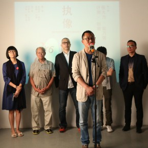 """03 Curator Wang Chuan spoke at th eopening ceremony 290x290 - Multiple Possibilities of Digital Age–""""The Persistence of Images: 2×6"""" Season I Inaugurated in Guangzhou"""