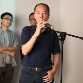 """05 Representative of the artists Zhang Dali addressed the guests 290x290 - Multiple Possibilities of Digital Age–""""The Persistence of Images: 2×6"""" Season I Inaugurated in Guangzhou"""
