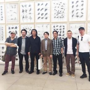 06 From the left to the right Ma Jun Zhou Jirong Su Xinping Yin Jinan Li Di Sun Yongzeng Lu Zhengyuan 290x290 - Crusader–Li Di's New Works on Paper Debuted at the White Box Art Center