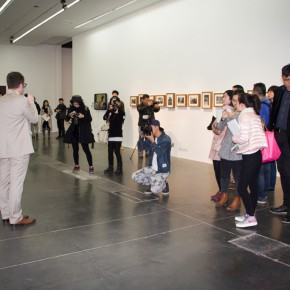 "06 Philip Tinari guided the media to visit the exhibition 290x290 - ""Zhao Gang: The Road to Serfdom"" Opened at UCCA"