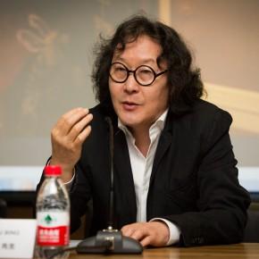 "06 Xu Bing, professor of CAFA, chief curator of the ""Diamond Leaves"" exhibition"
