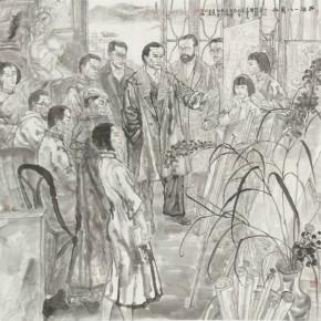 08 Gu Yingqing West Lake Yibayishe Community 208 x 200 cm 290x290 - Fengmian's 100 Years–Lin Fengmian's Life Show Inaugurated at MCACAA