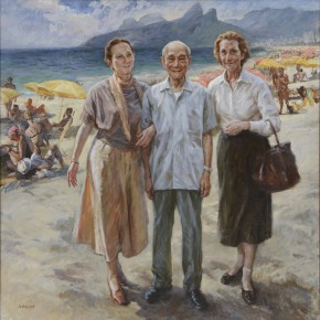 09 Guan Jianxin Lin Fengmian Visited Relatives in Brazil 200 x 200 cm 290x290 - Fengmian's 100 Years–Lin Fengmian's Life Show Inaugurated at MCACAA