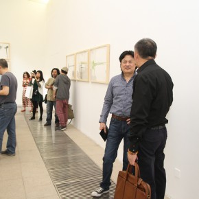 10 Artist Ma Shuqing communicated with the honored guest 290x290 - Crusader–Li Di's New Works on Paper Debuted at the White Box Art Center