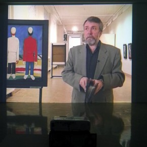 """10 The video """"Russian Museum Times Malevich"""" was played at the exhibition 290x290 - Malevich Documenta Opened at Sichuan Fine Arts Institute and the Most Comprehensive Art Chronology Debuted"""